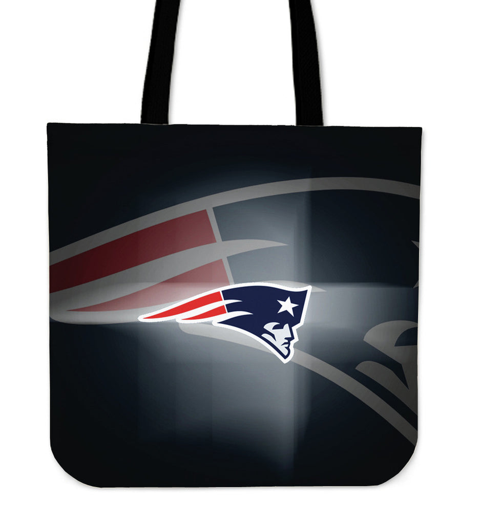 New England Patriots Light Logo Tote Bags