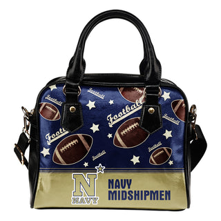 Personalized American Football Awesome Navy Midshipmen Shoulder Handbag