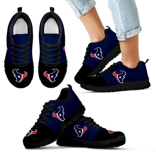 Two Colors Aparted Houston Texans Sneakers