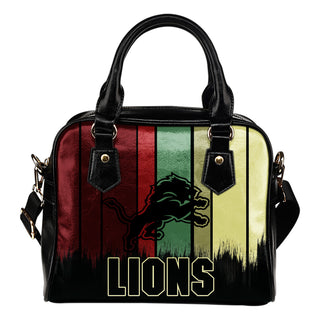 Vintage Silhouette Detroit Lions Purse Shoulder Handbag