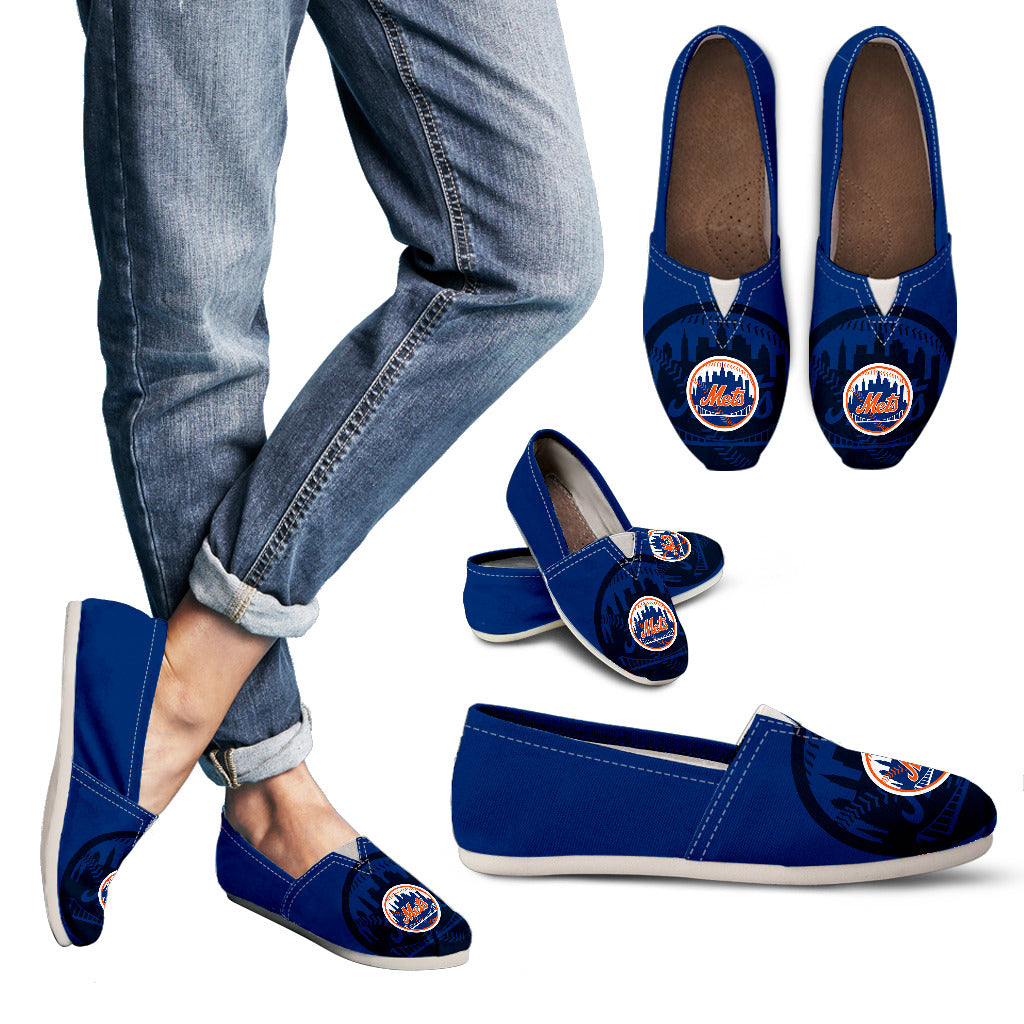 Enormous Logo Mix Tiny Logo Fantastic New York Mets Casual Shoes
