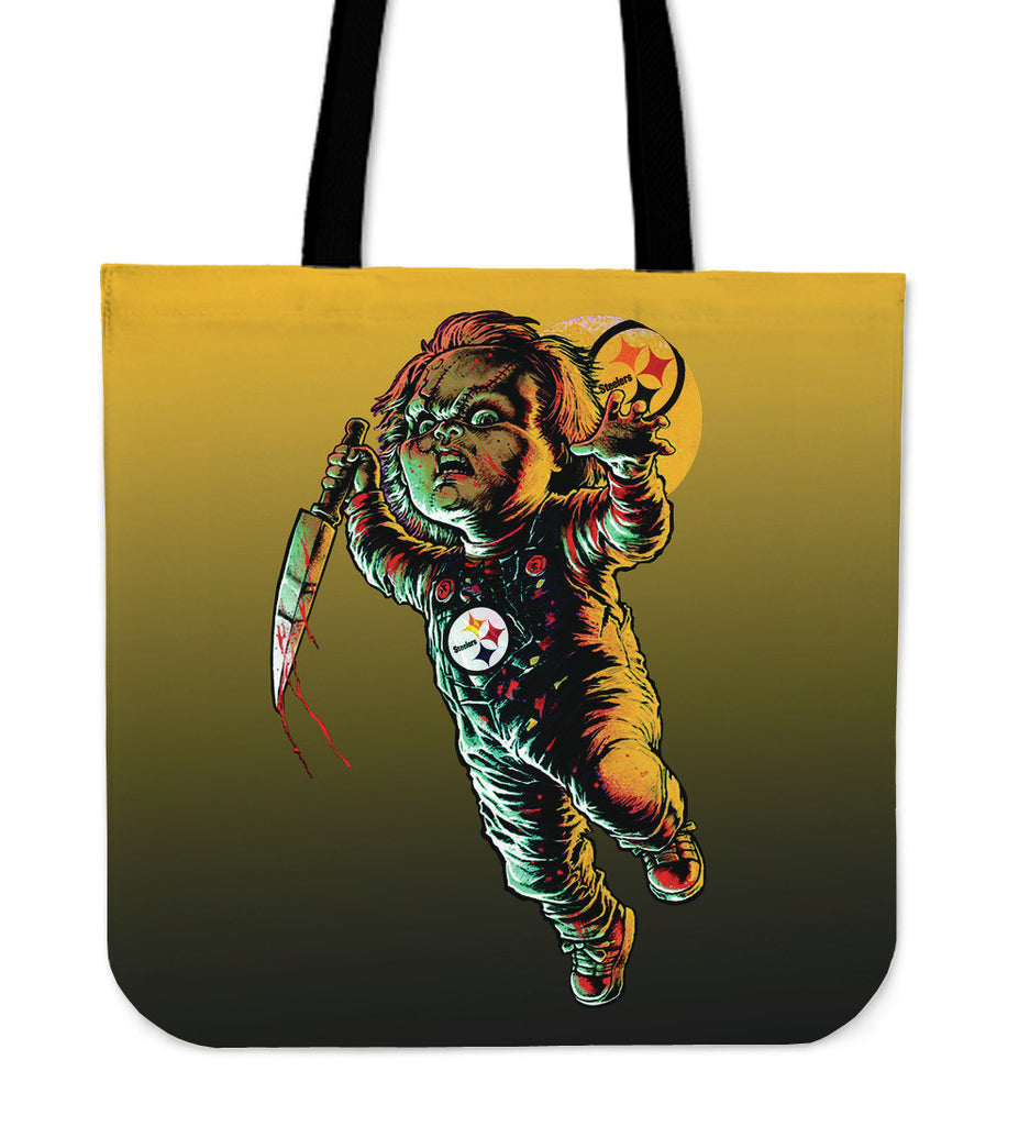 Chucky Pittsburgh Steelers Tote Bag - Best Funny Store