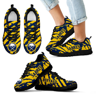 Stripes Pattern Print Buffalo Sabres Sneakers V3