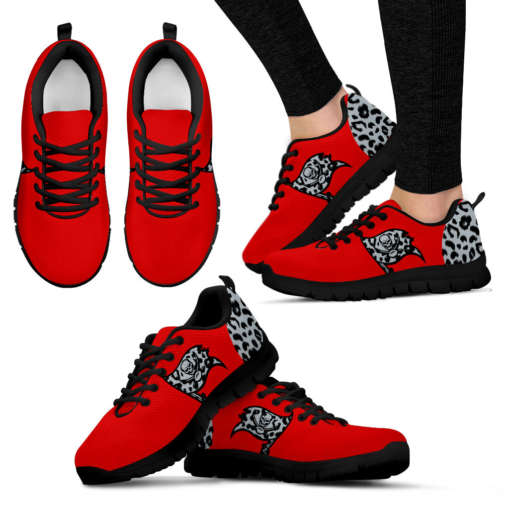 Cheetah Pattern Fabulous Tampa Bay Buccaneers Sneakers