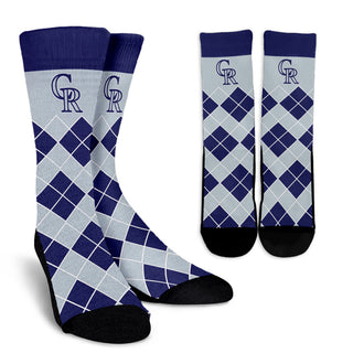 Gorgeous Colorado Rockies Argyle Socks
