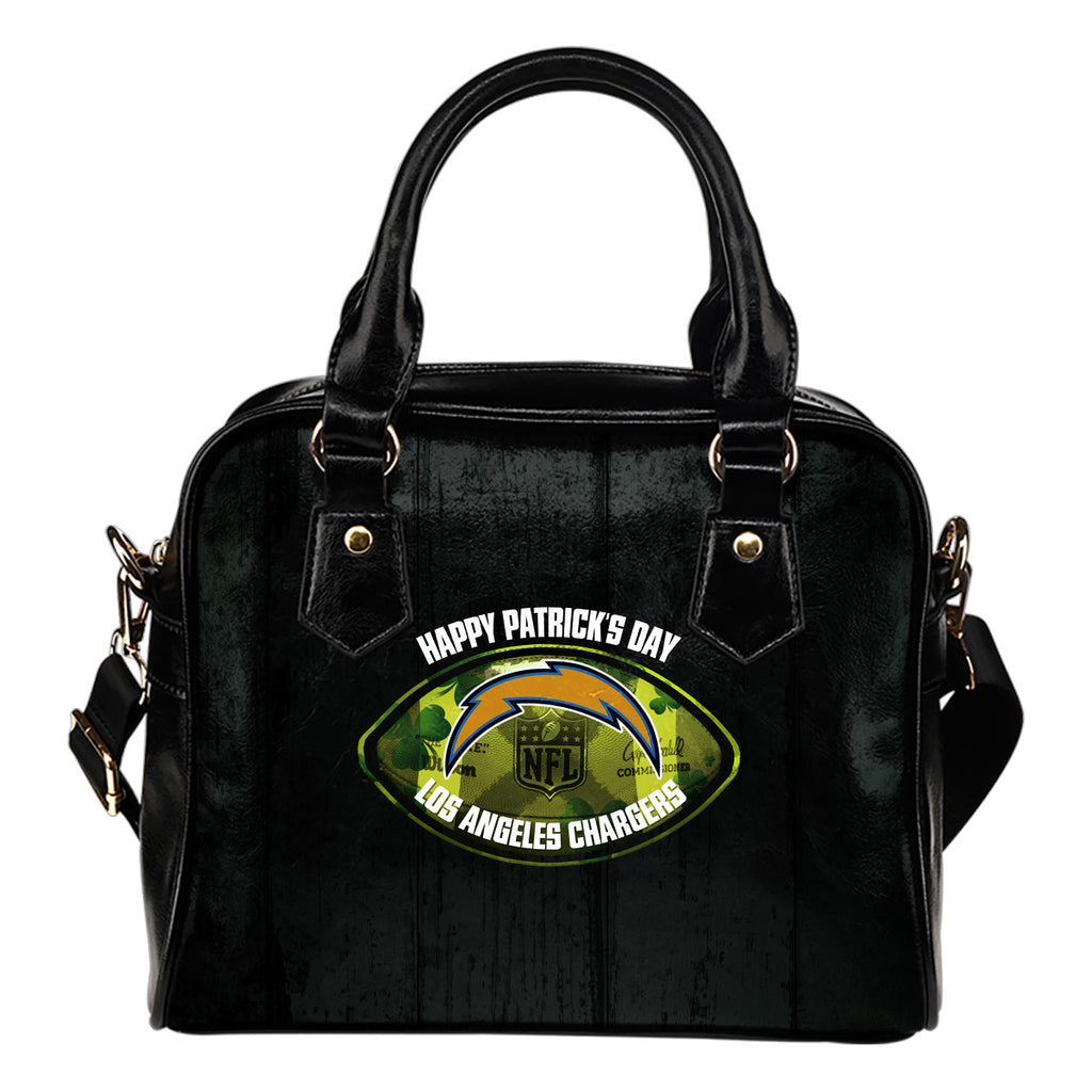 Retro Scene Lovely Shining Patrick's Day Los Angeles Chargers Shoulder Handbags