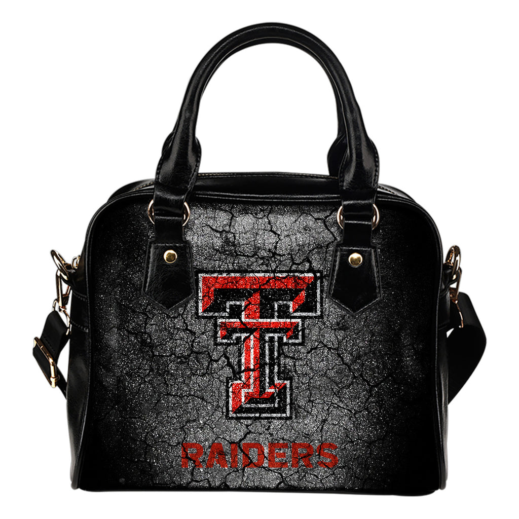 Wall Break Texas Tech Red Raiders Shoulder Handbags Women Purse