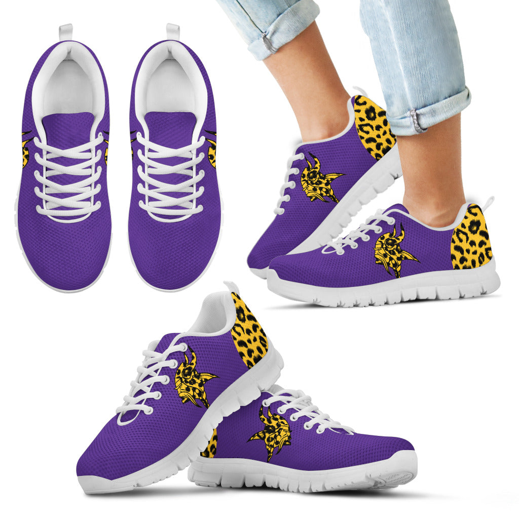 Cheetah Pattern Fabulous Minnesota Vikings Sneakers