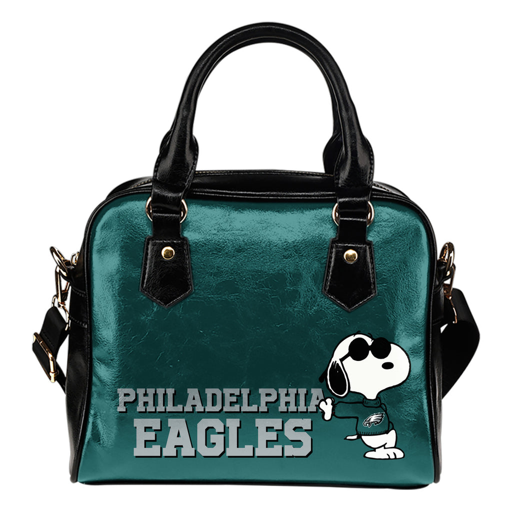 Philadelphia Eagles Cool Sunglasses Snoopy Shoulder Handbags Women Purse