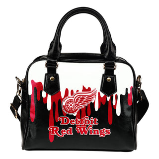 Color Leak Down Colorful Detroit Red Wings Shoulder Handbags