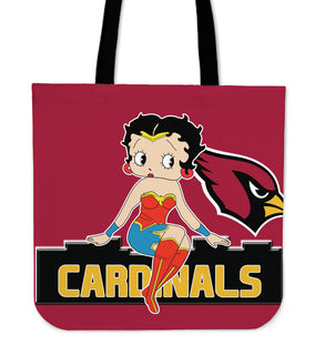 Wonder Betty Boop Arizona Cardinals Tote Bags