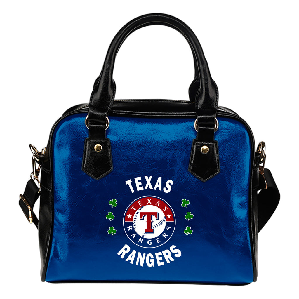 Central Beautiful Logo Circle Lucky Leaf Texas Rangers Shoulder Handbags