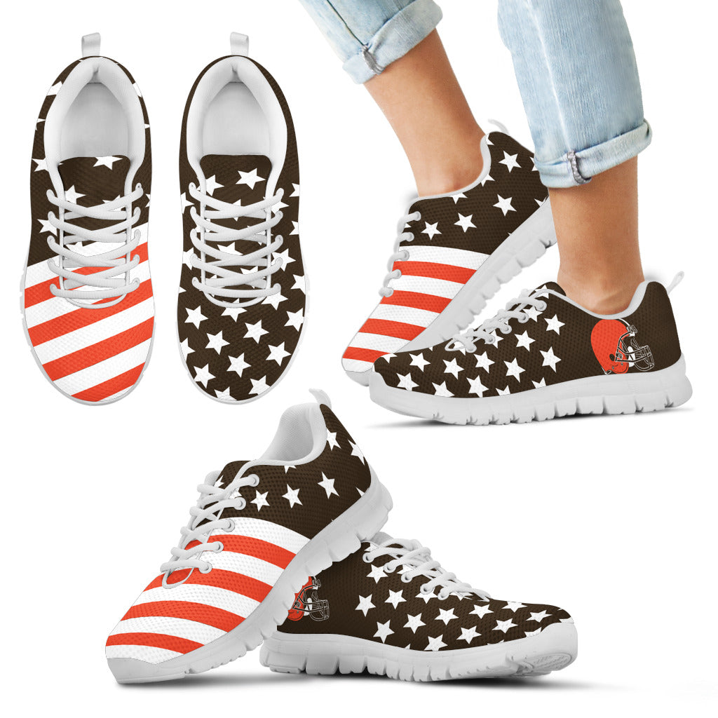 America Flag Full Stars Stripes Cleveland Browns Sneakers