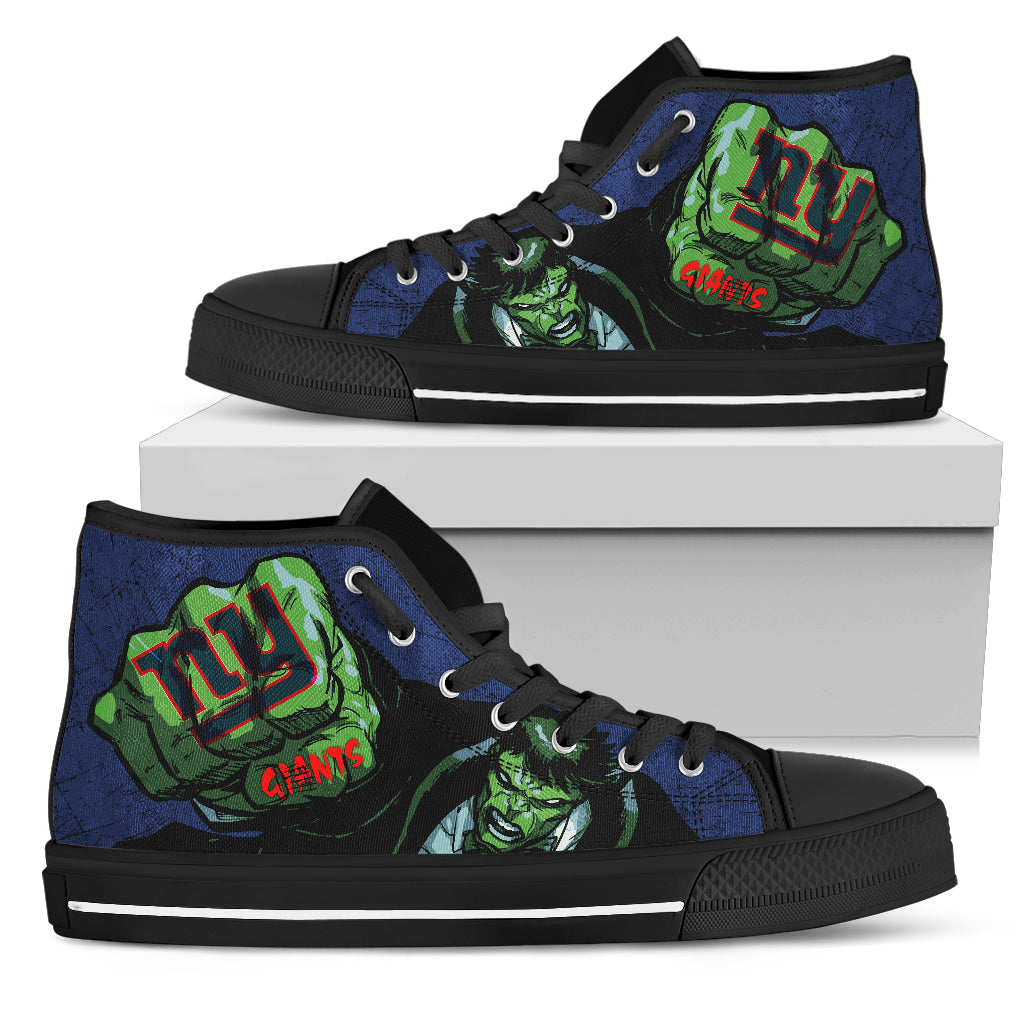 Hulk Punch New York Giants High Top Shoes