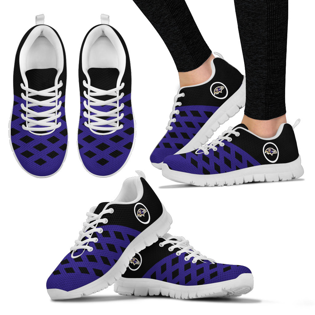 Two Colours Cross Line Baltimore Ravens Sneakers