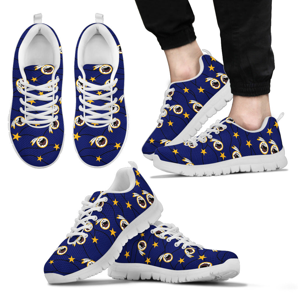 Star Twinkle Night Washington Redskins Sneakers