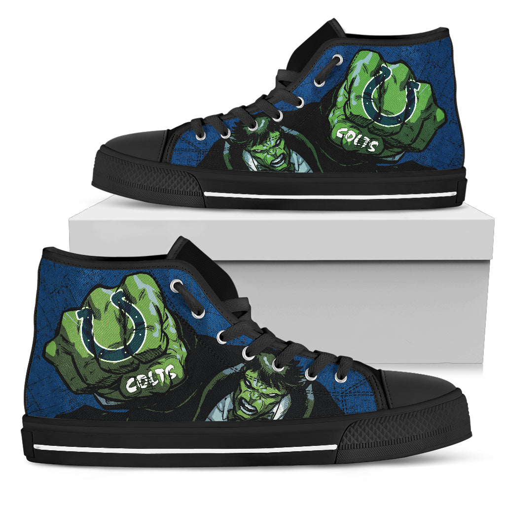 Hulk Punch Indianapolis Colts High Top Shoes