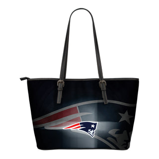 New England Patriots Light Logo Leather Bags