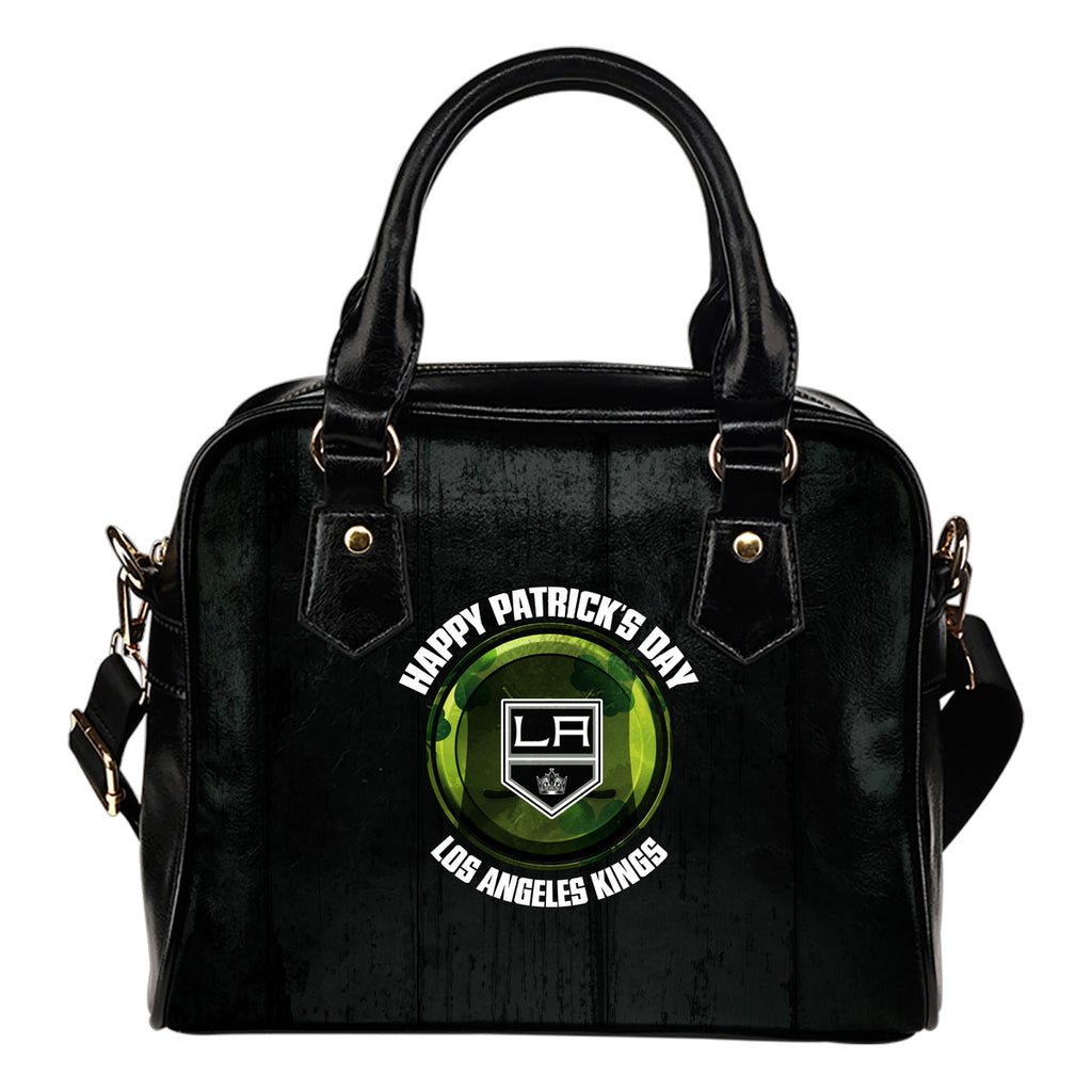 Retro Scene Lovely Shining Patrick's Day Los Angeles Kings Shoulder Handbags
