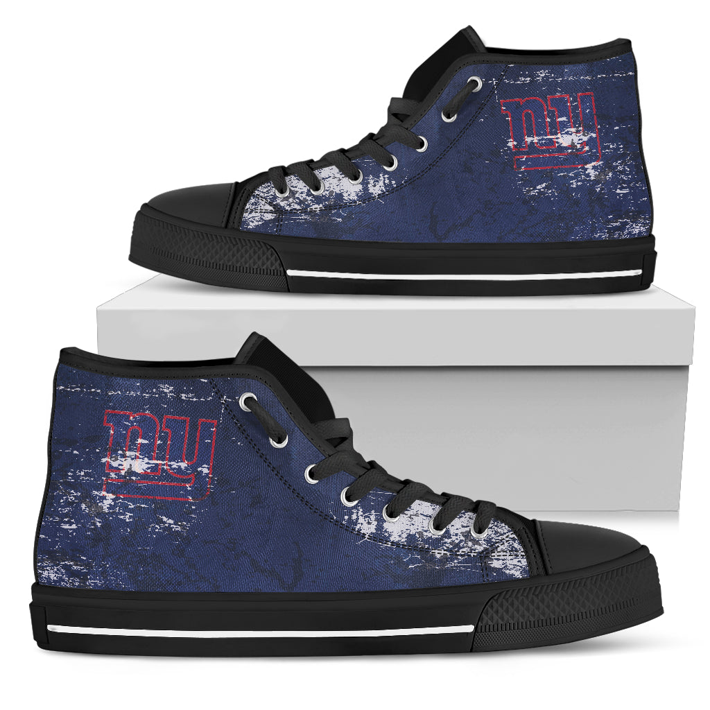 Grunge Vintage Logo New York Giants High Top Shoes