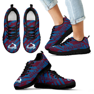 Stripes Pattern Print Colorado Avalanche Sneakers V3