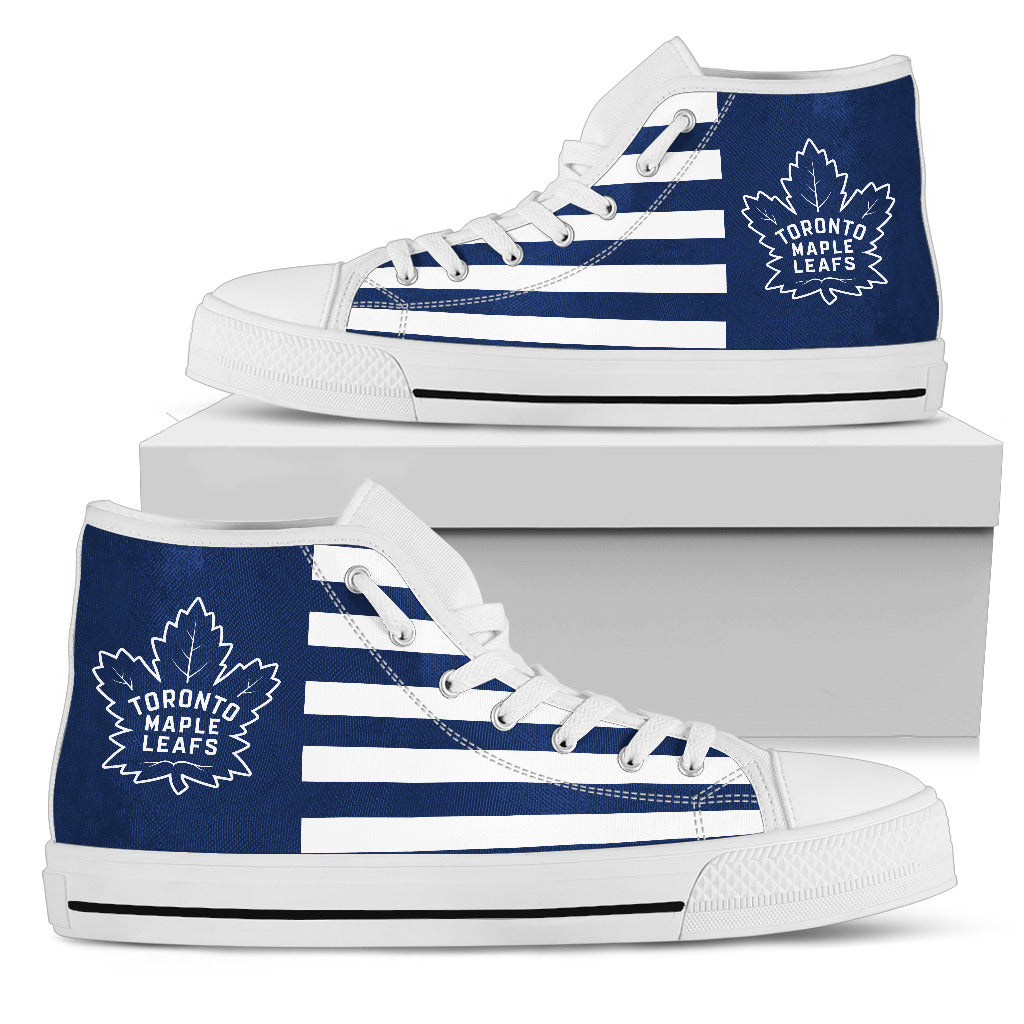 American Flag Toronto Maple Leafs High Top Shoes