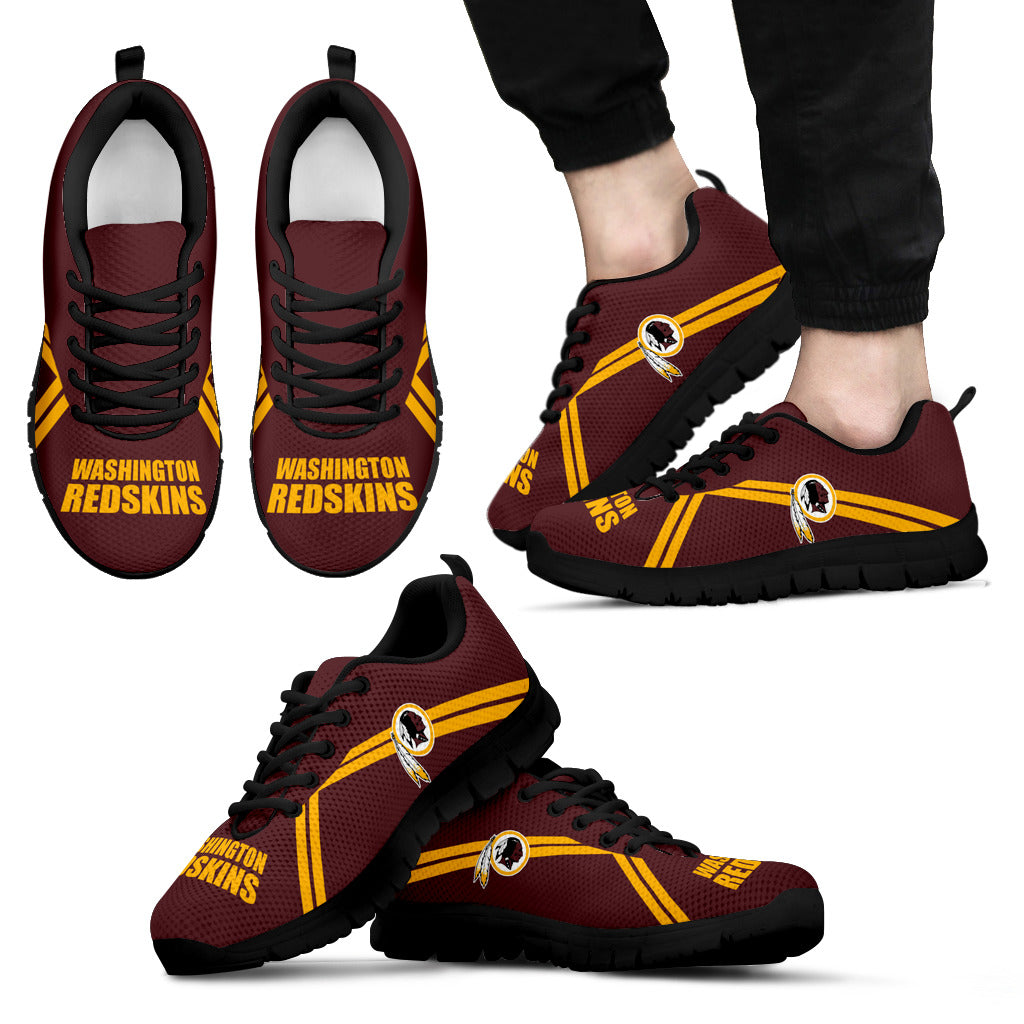 Washington Redskins Parallel Line Logo Sneakers