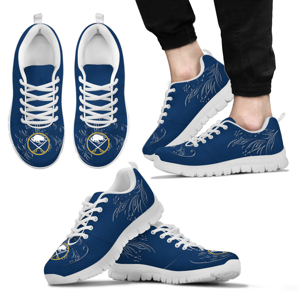 Lovely Floral Print Buffalo Sabres Sneakers