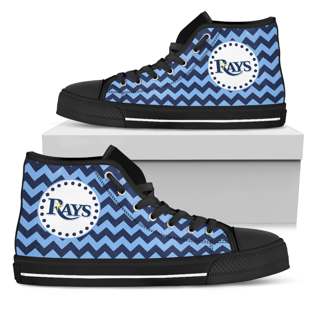 Chevron Broncos Tampa Bay Rays High Top Shoes