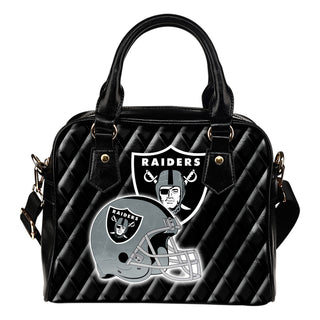 Couple Helmet Enchanting Logo Oakland Raiders Shoulder Handbags