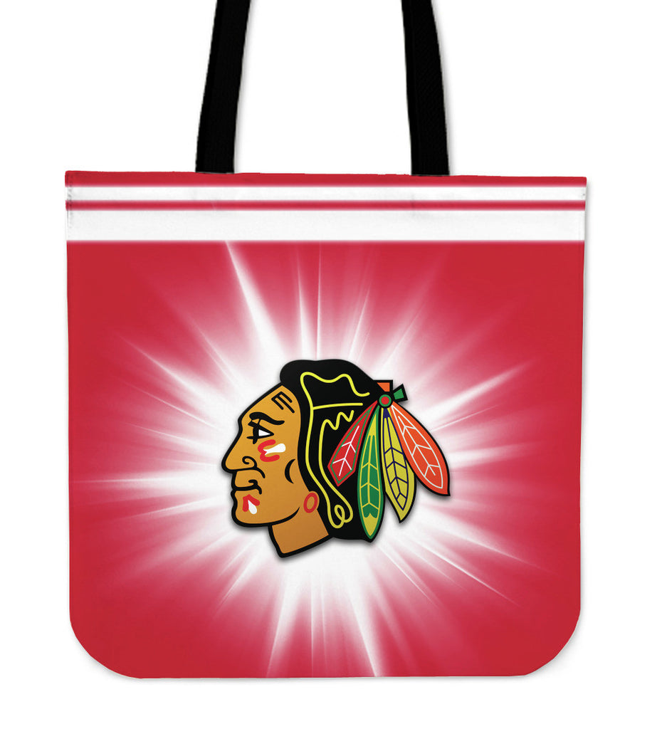 Chicago Blackhawks Flashlight Tote Bags - Best Funny Store