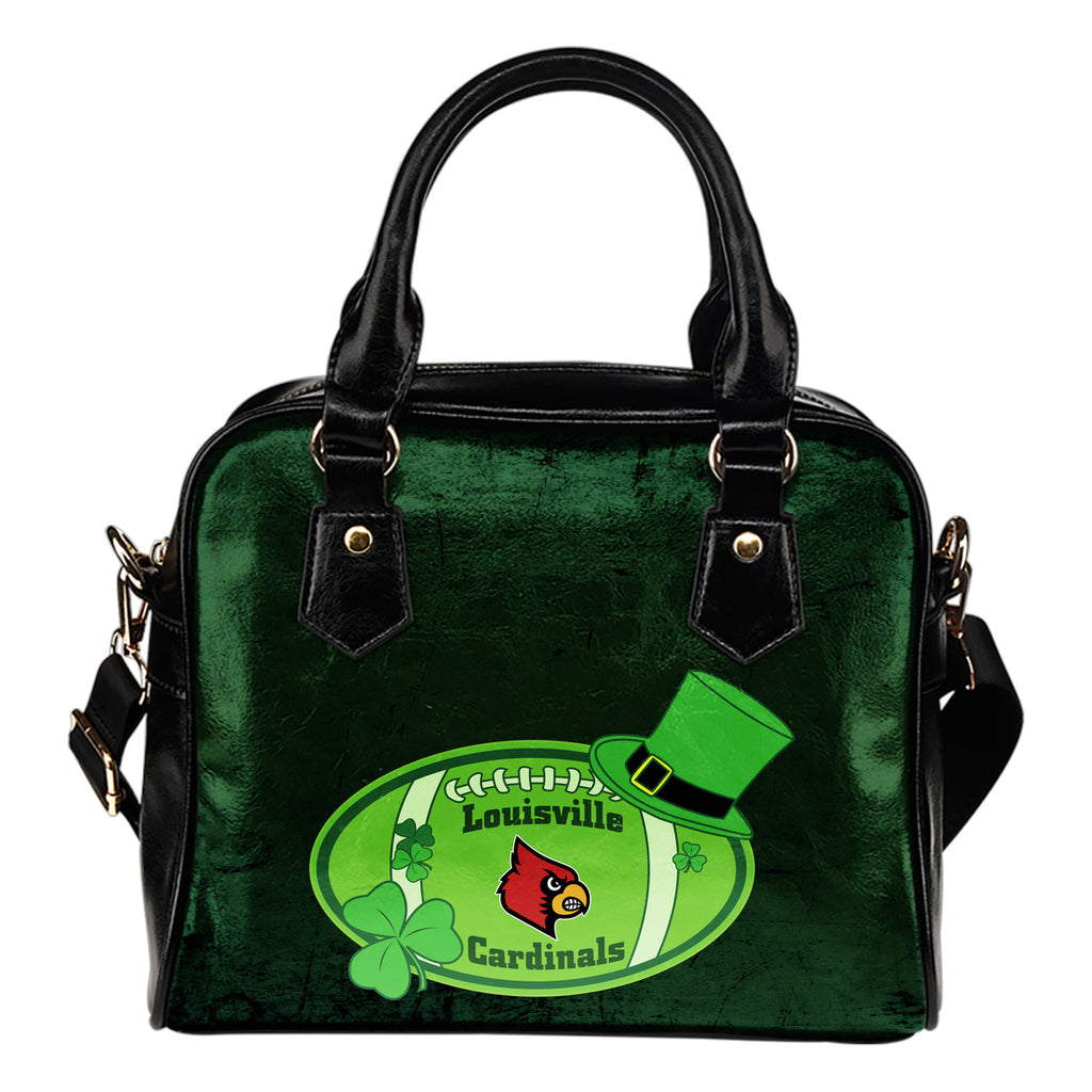 Signal Patrick's Day Pleasant Louisville Cardinals Shoulder Handbags
