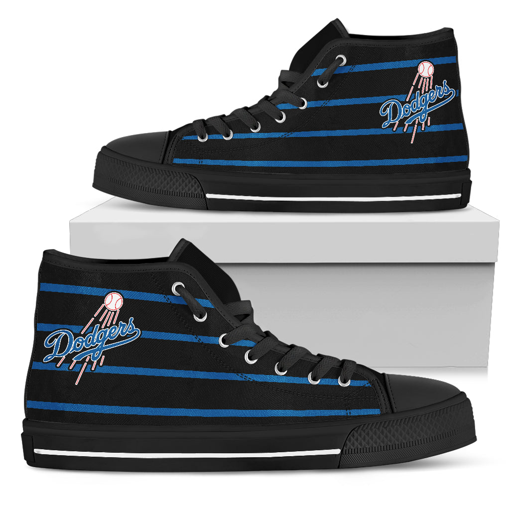 Edge Straight Perfect Circle Los Angeles Dodgers High Top Shoes