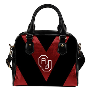 Triangle Double Separate Colour Oklahoma Sooners Shoulder Handbags