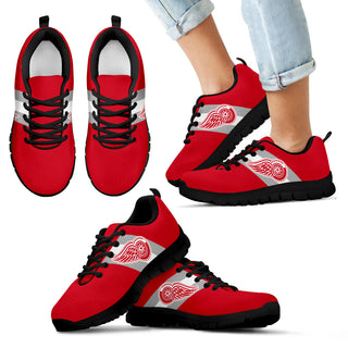 Three Colors Vertical Detroit Red Wings Sneakers