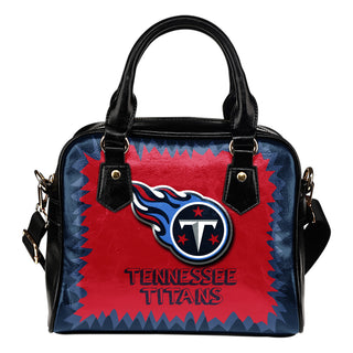 Jagged Saws Mouth Creepy Tennessee Titans Shoulder Handbags