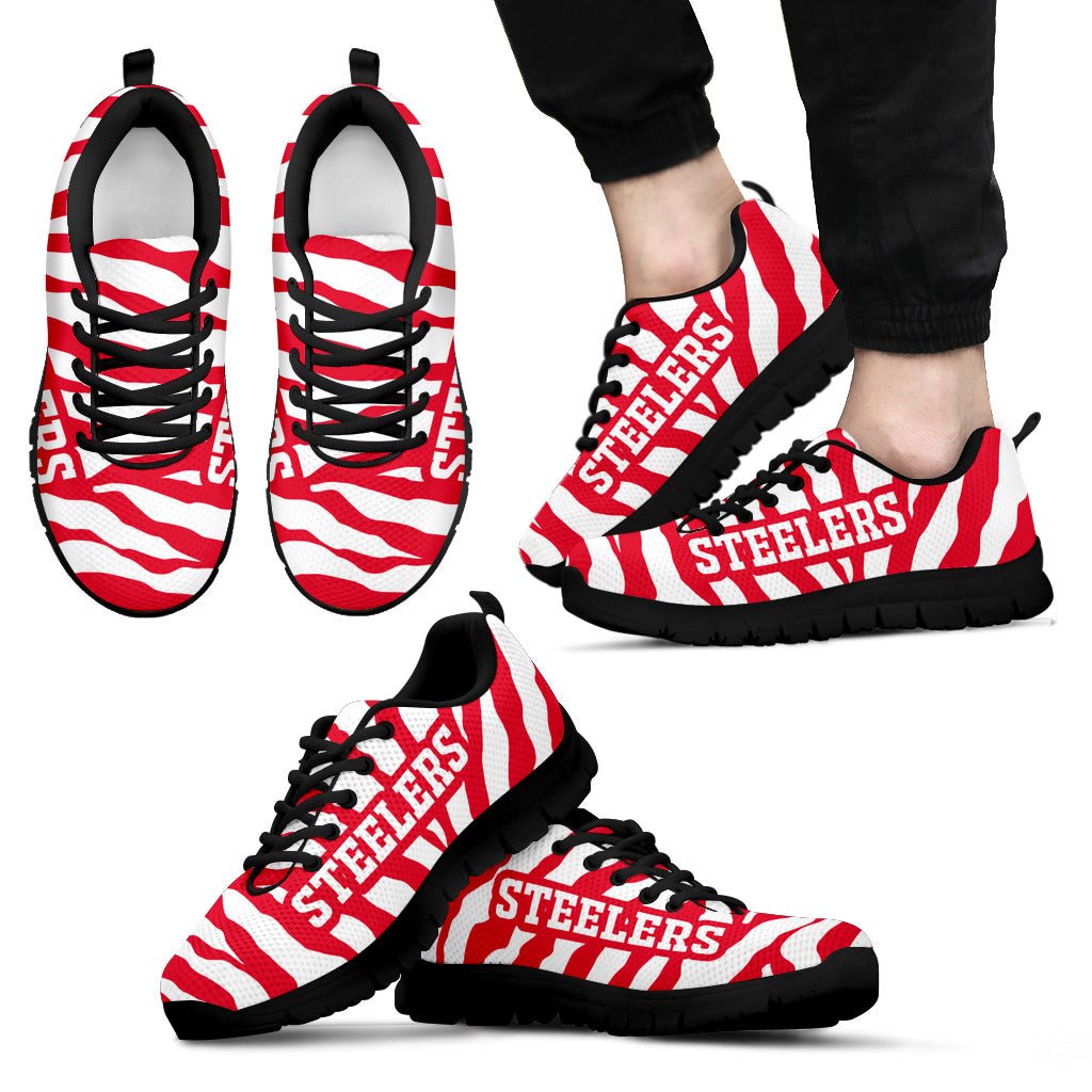 Tiger Skin Stripes Pattern Print Kansas City Chiefs Sneakers