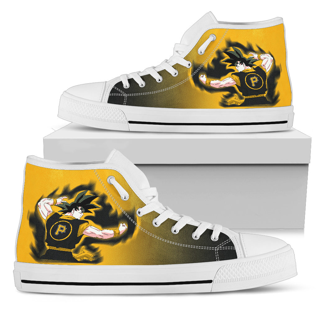 Pittsburgh Pirates Goku Saiyan Power High Top Shoes
