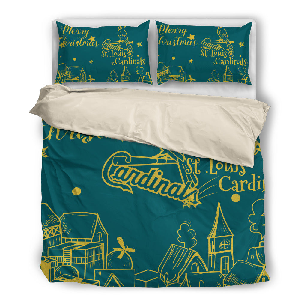 Nice Present Comfortable Christmas St. Louis Cardinals Bedding Sets