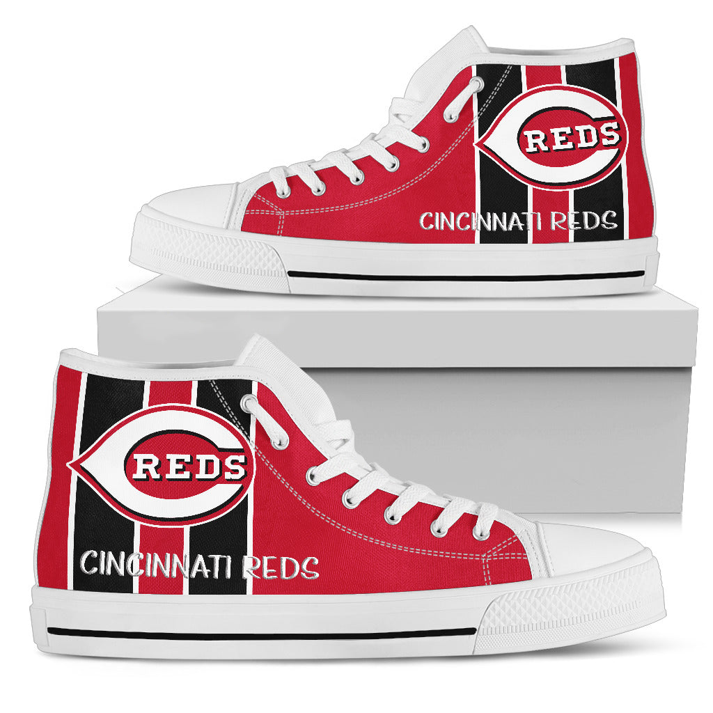 Steaky Trending Fashion Sporty Cincinnati Reds High Top Shoes