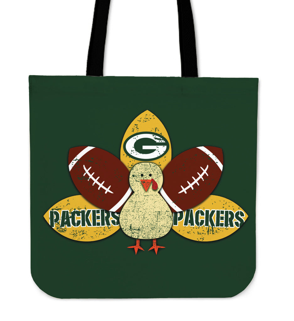 Thanksgiving Green Bay Packers Tote Bags - Best Funny Store