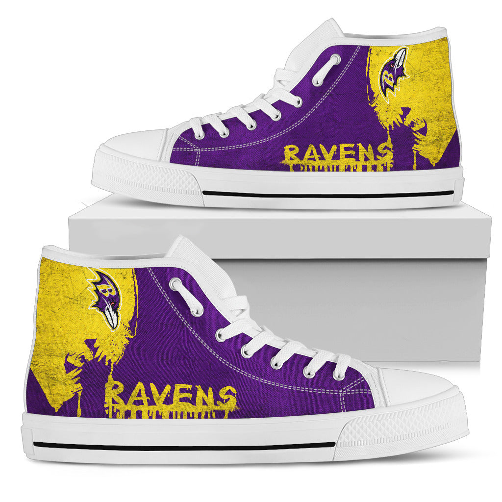 Alien Movie Baltimore Ravens High Top Shoes