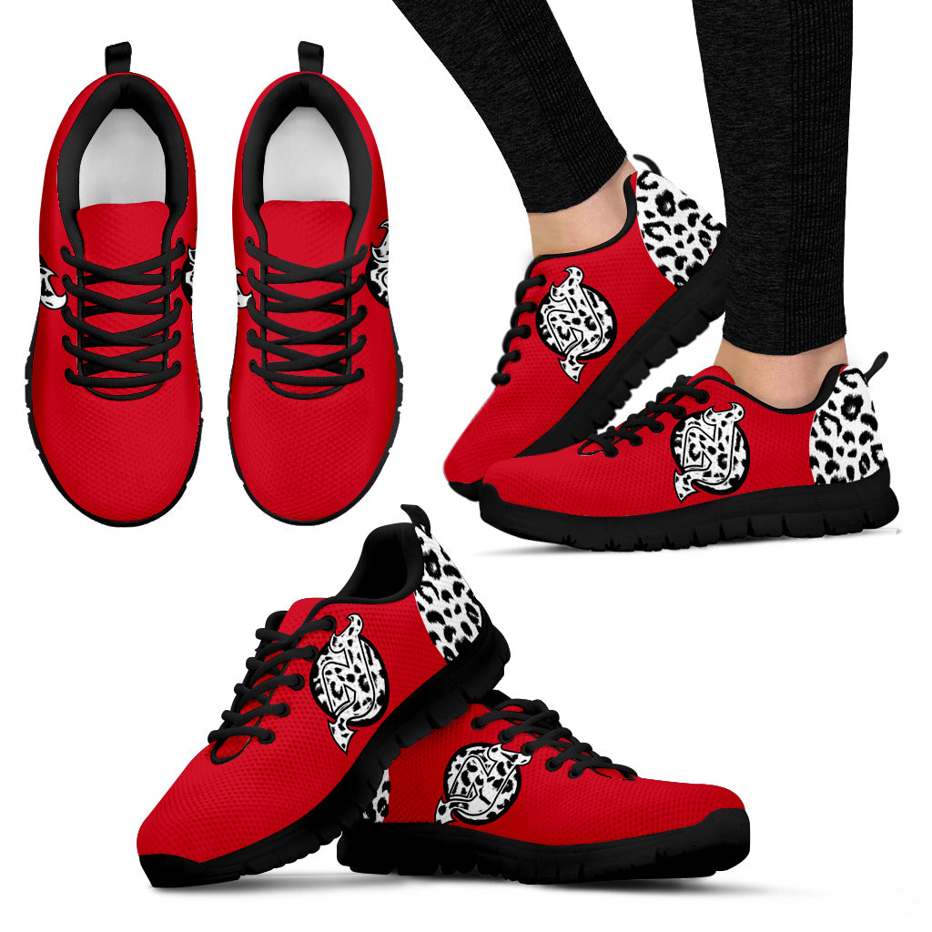 Cheetah Pattern Fabulous New Jersey Devils Sneakers