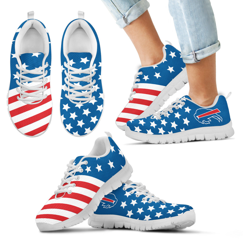 America Flag Full Stars Stripes Buffalo Bills Sneakers