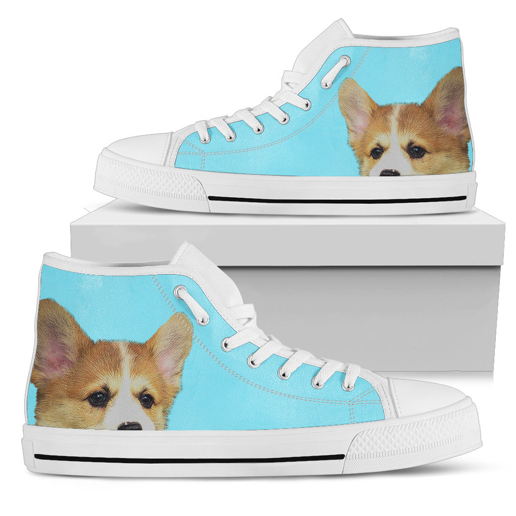 Look At Me Corgi High Top Shoes