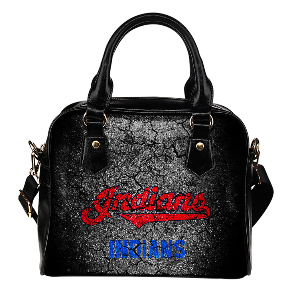 Wall Break Cleveland Indians Shoulder Handbags Women Purse
