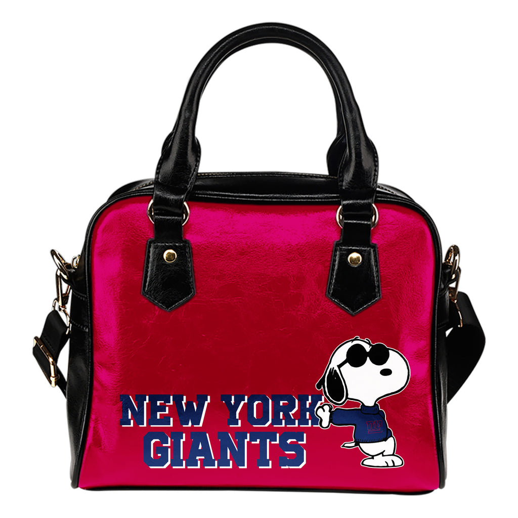 New York Giants Cool Sunglasses Snoopy Shoulder Handbags Women Purse