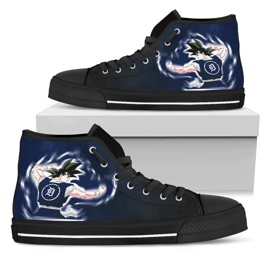 Detroit Tigers Goku Saiyan Power High Top Shoes