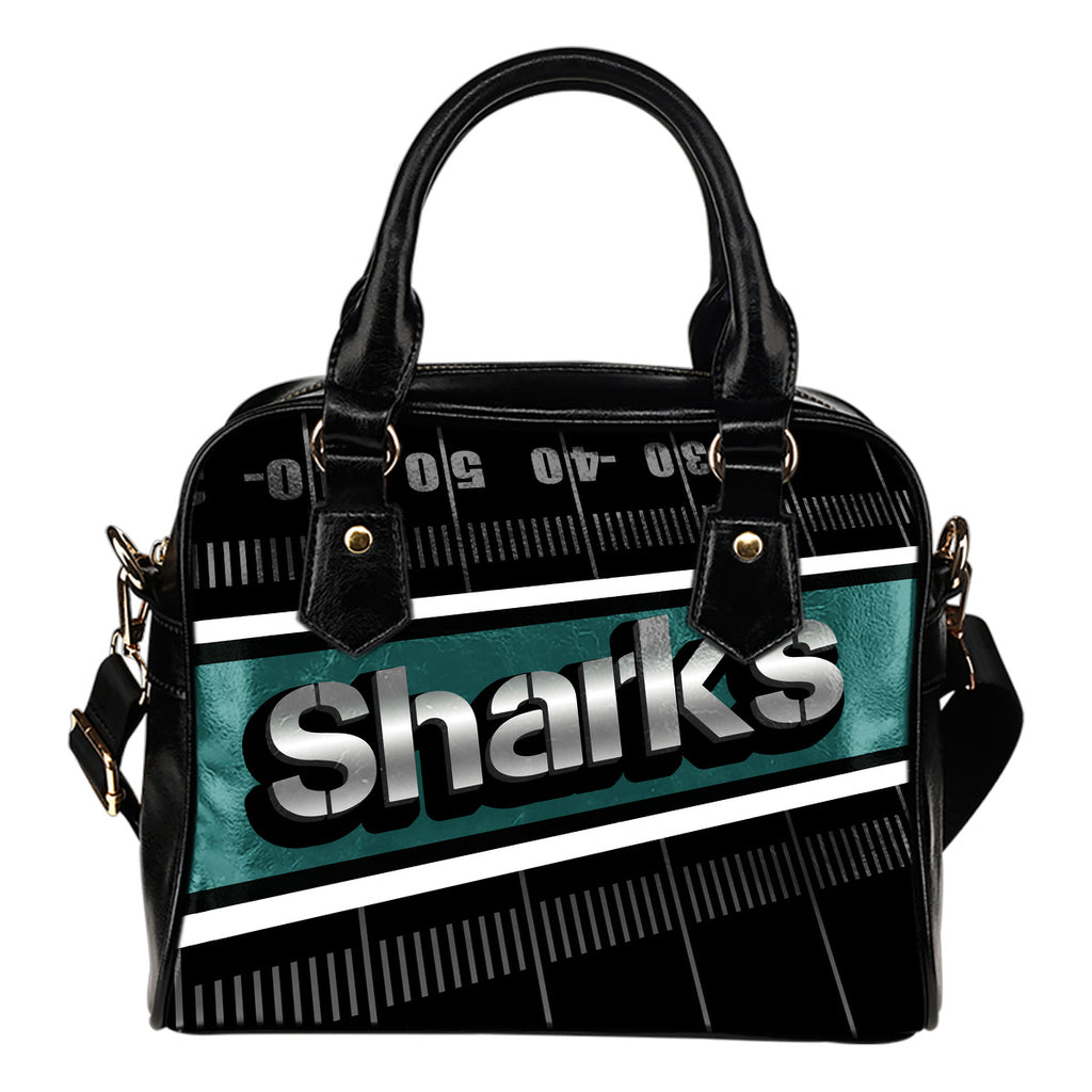 San Jose Sharks Silver Name Colorful Shoulder Handbags