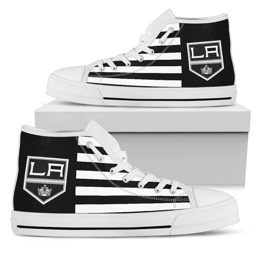 American Flag Los Angeles Kings High Top Shoes
